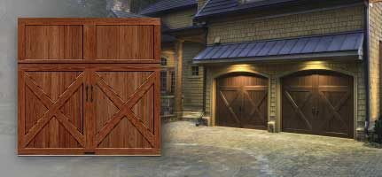 Clopay reserve wood collection limited edition series for Wind code garage doors